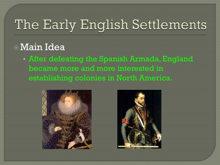 The early english settlements1