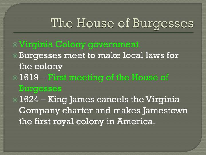 The House of Burgesses