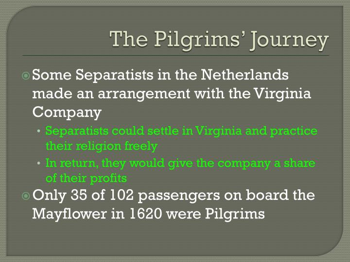 The Pilgrims' Journey