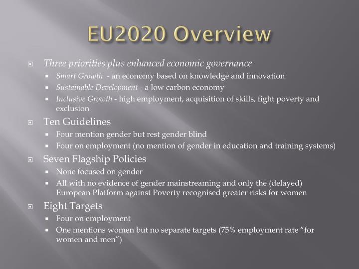 EU2020 Overview