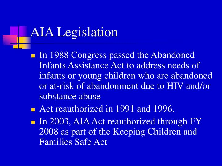 Aia legislation