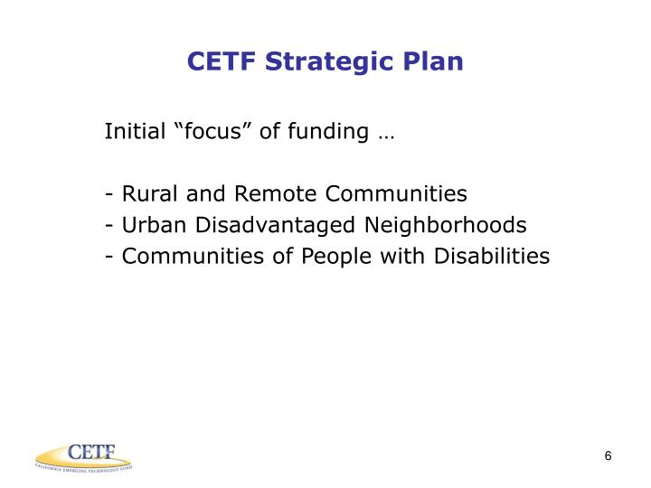 CETF Strategic Plan