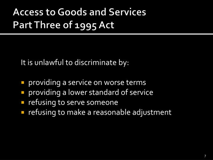 It is unlawful to discriminate by: