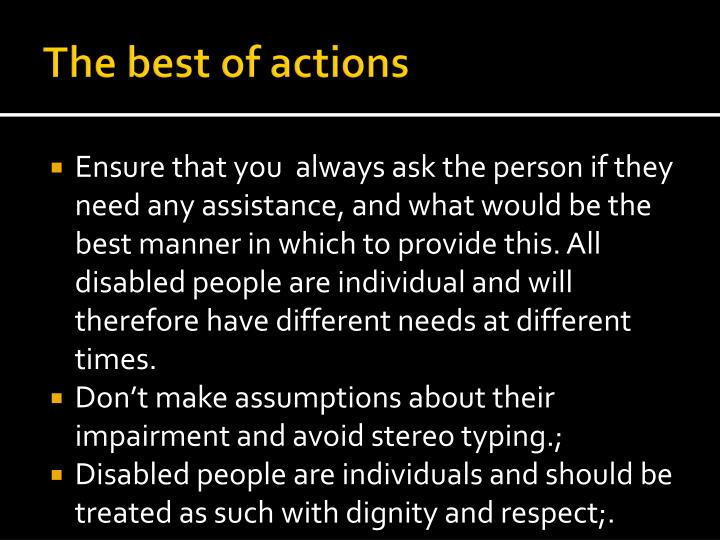 The best of actions