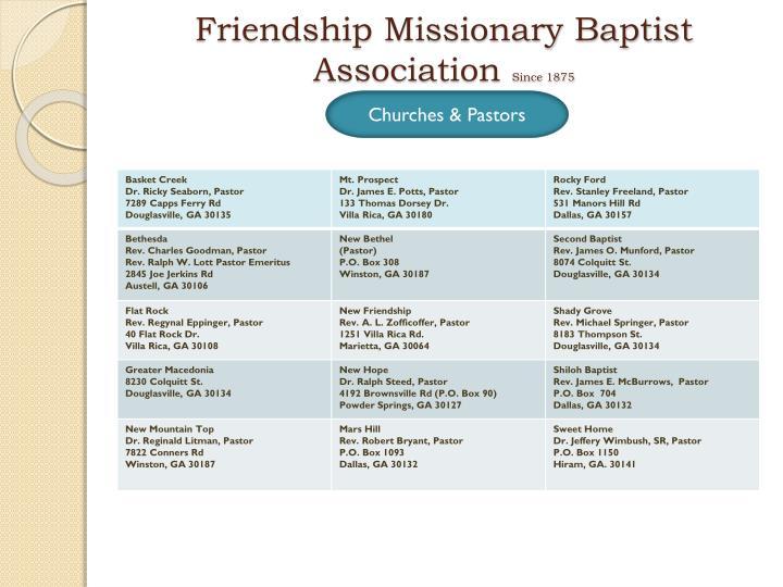 Friendship Missionary Baptist Association