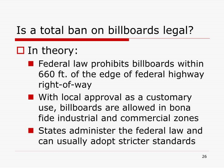 Is a total ban on billboards legal?
