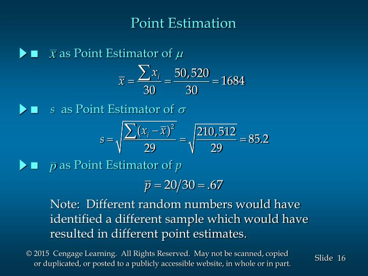 as Point Estimator of