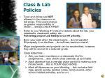 class lab policies
