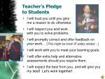 teacher s pledge to students
