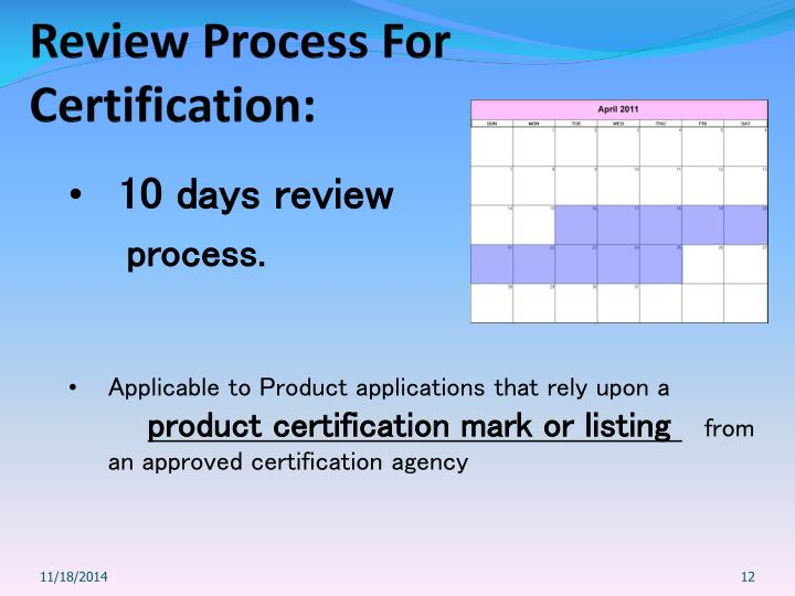 Review Process For