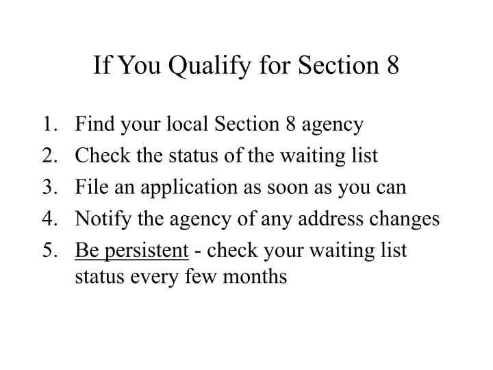 If You Qualify for Section 8