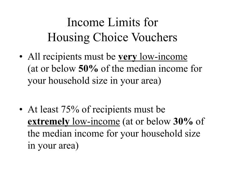 Income Limits for