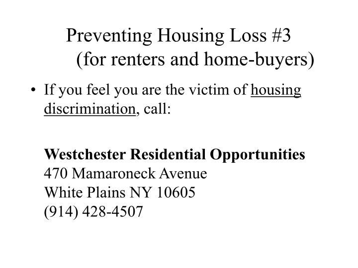 Preventing Housing Loss #3