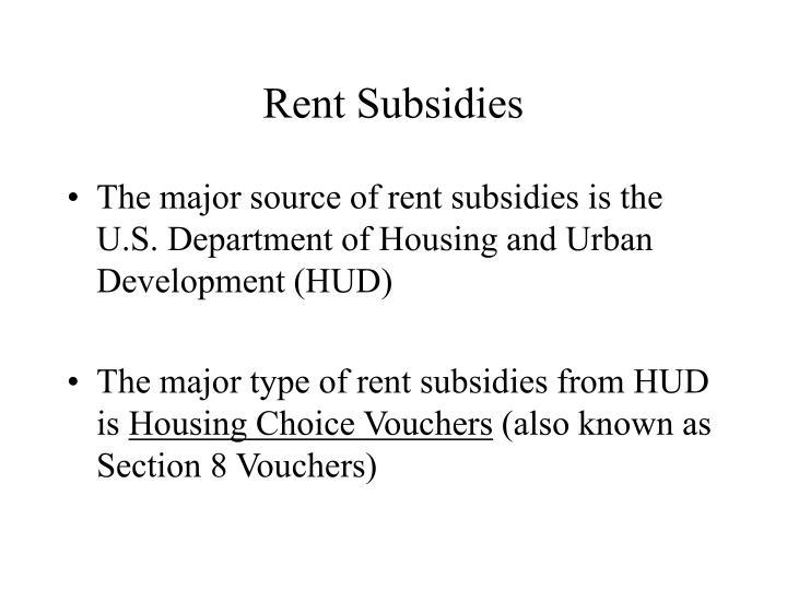 Rent Subsidies