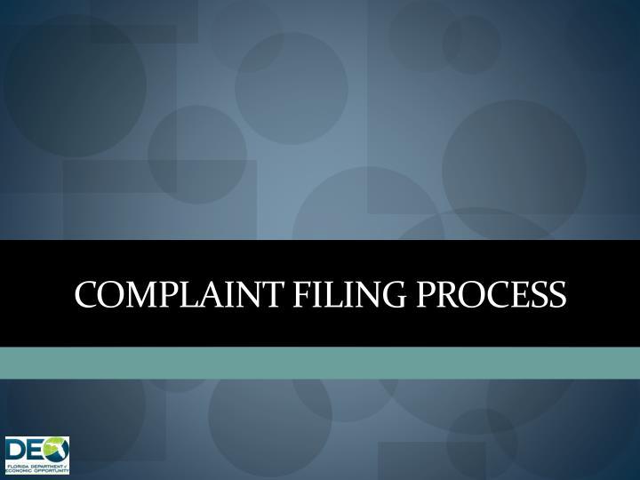Complaint Filing Process