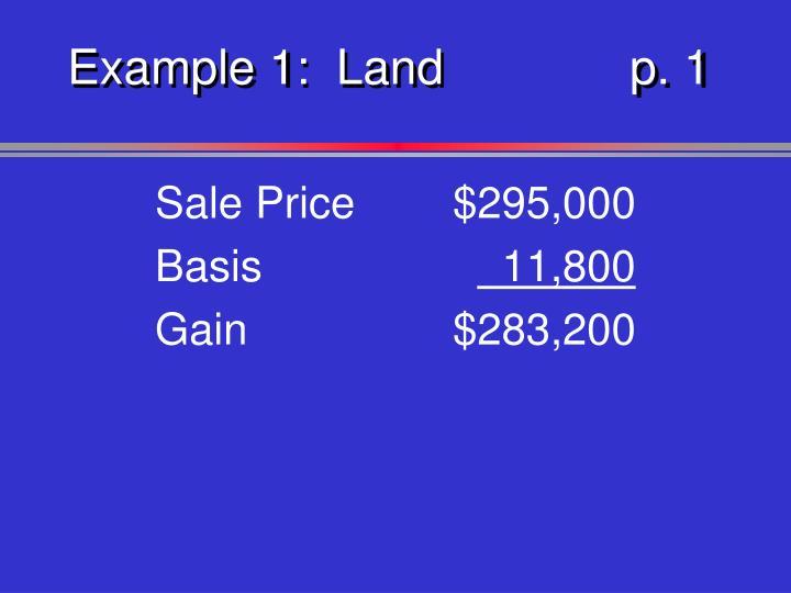 Example 1:  Landp. 1