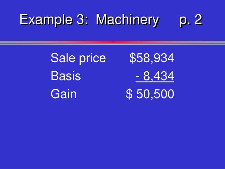 Example 3:  Machineryp. 2