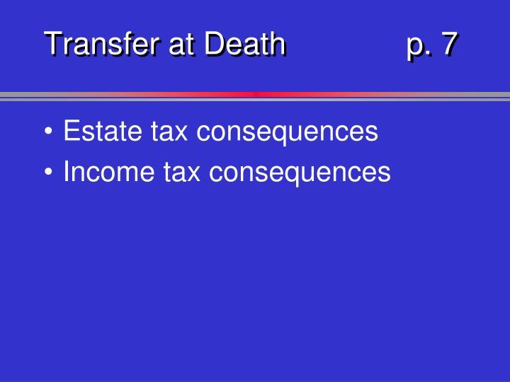 Transfer at Deathp. 7