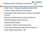 collaborative solution involved