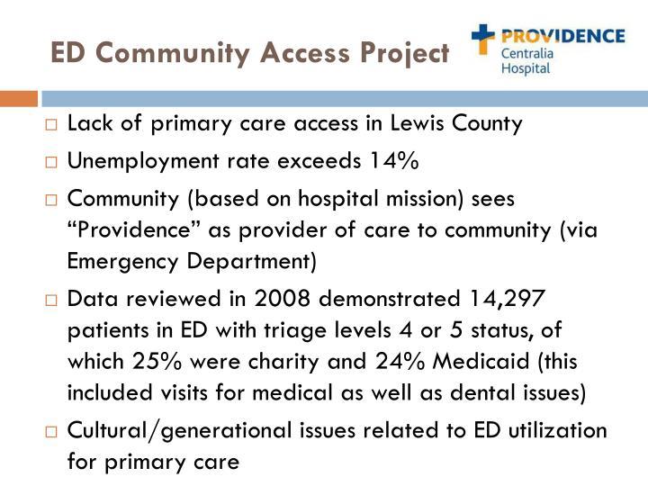 Ed community access project