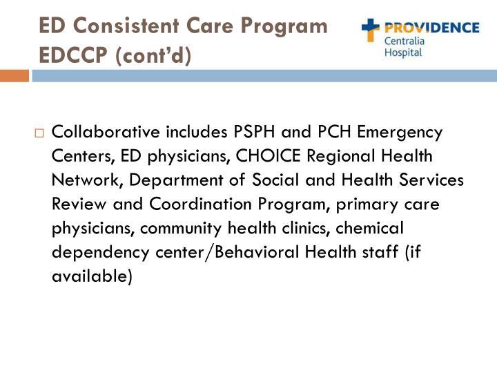 ED Consistent Care Program