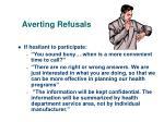 averting refusals