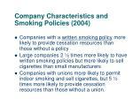 company characteristics and smoking policies 2004