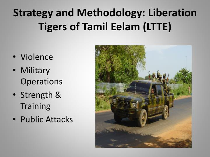 strategy and methodology liberation tigers of tamil eelam ltte n.