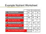 example nutrient worksheet7
