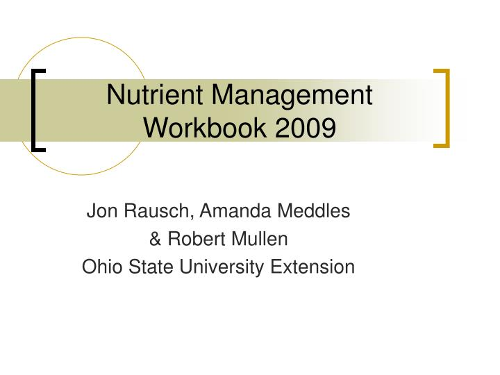 nutrient management workbook 2009 n.