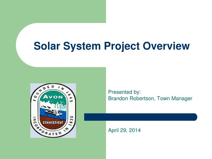 solar system project overview n.