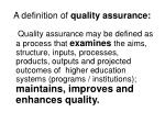 a definition of quality assurance