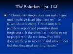 the solution pt 1
