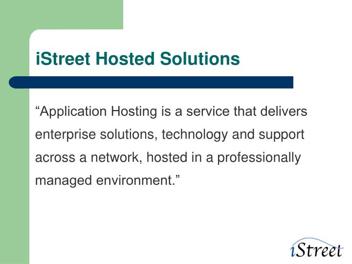 iStreet Hosted Solutions
