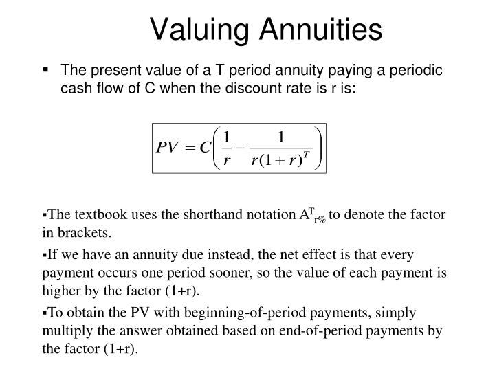 Valuing Annuities
