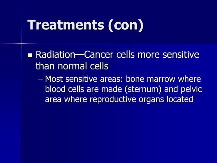 Treatments (con)