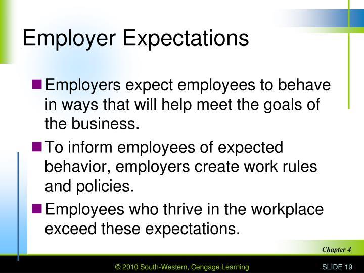 Employer Expectations