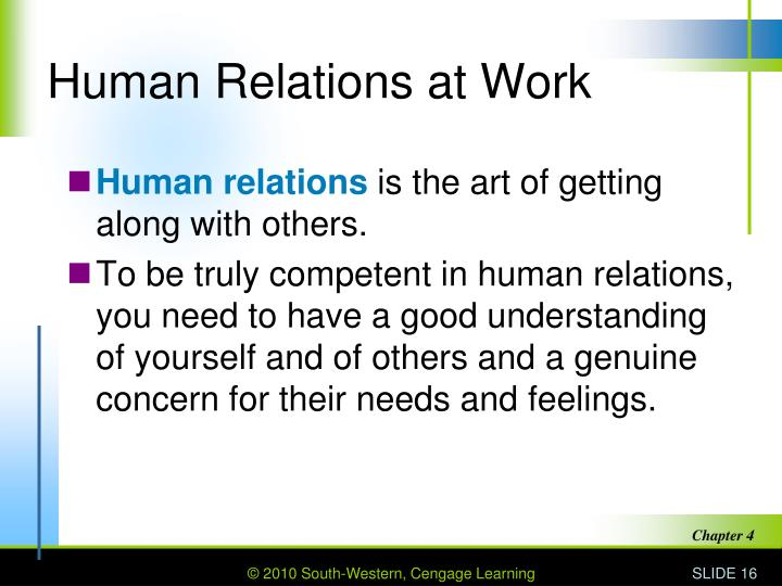 Human Relations at Work
