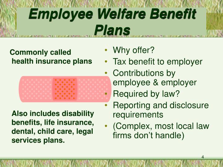 Employee Welfare Benefit Plans