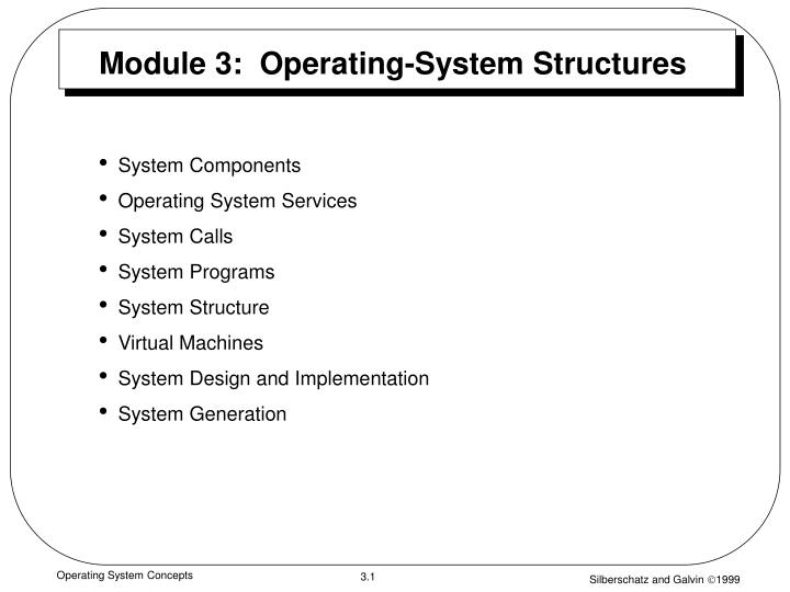 module 3 operating system structures n.