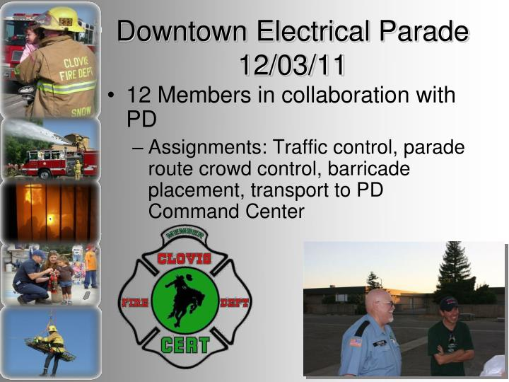 Downtown Electrical Parade 12/03/11