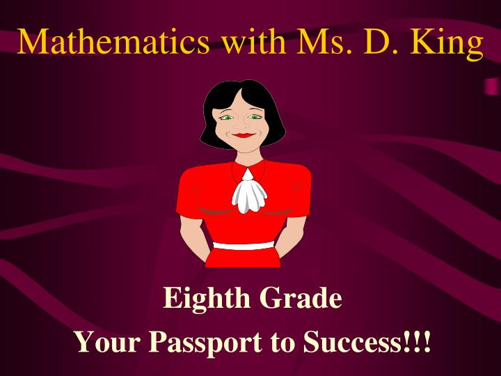 mathematics with ms d king n.