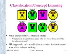 classification concept learning