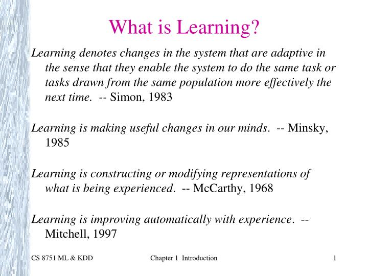 what is learning n.