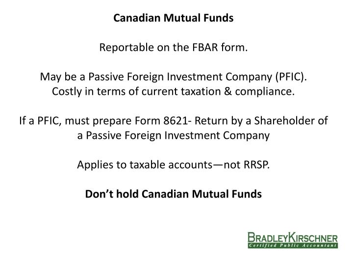 Canadian Mutual Funds