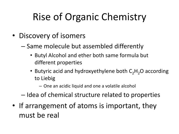 Rise of Organic Chemistry