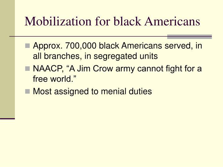 Mobilization for black americans