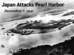 japan attacks pearl harbor