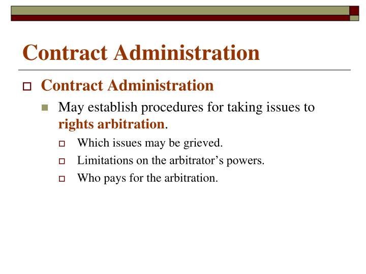 Contract administration1