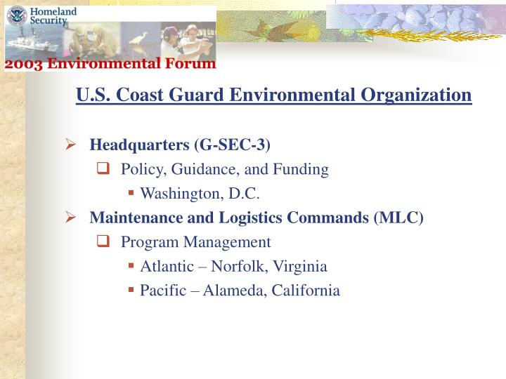U.S. Coast Guard Environmental Organization